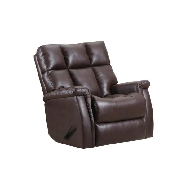 Lane Badlands Walnut Leather Look with Gray Pattern Rocker Recliner 4218-19