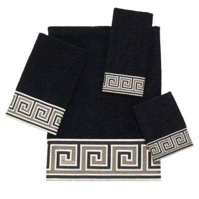 Eternity 4-Piece Bath Towel Set in Black