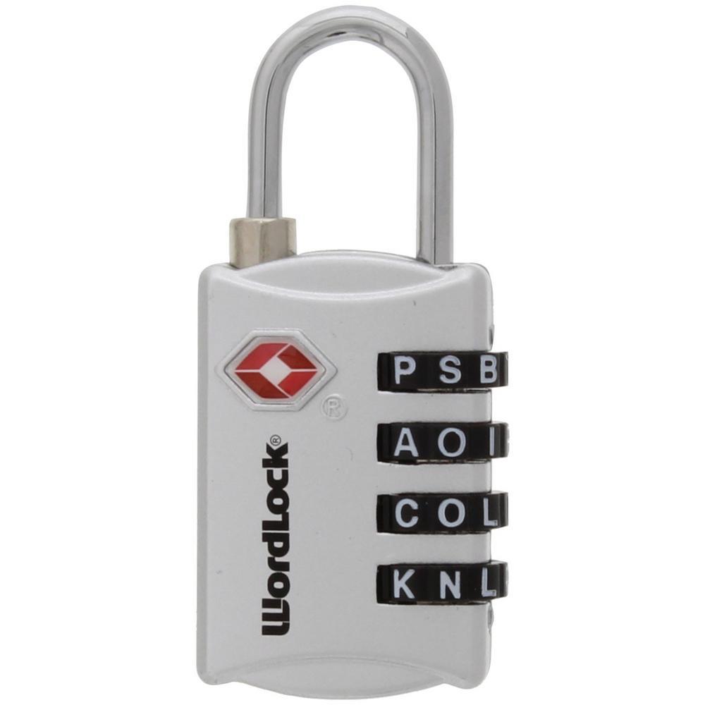 WordLock 4-Dial Luggage Combination Padlock (2-Pack)