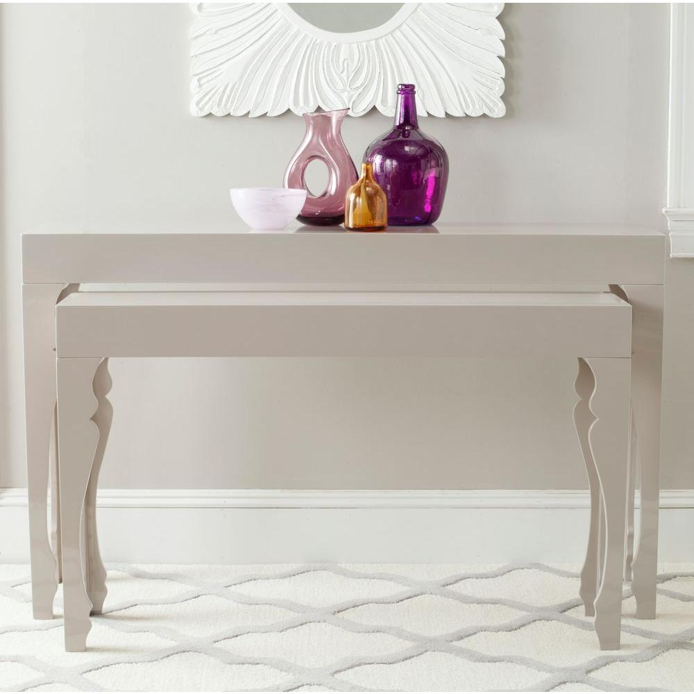 Safavieh Beth Taupe 2 Piece Nesting Console Table