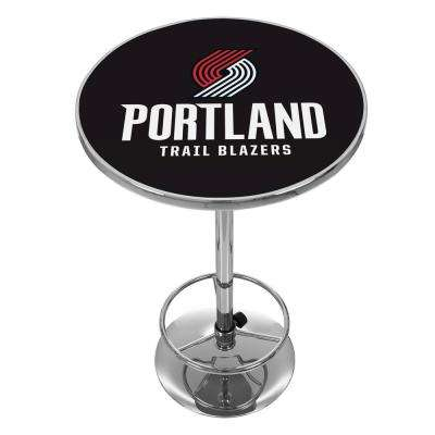 NBA Portland Trail Blazers Chrome Pub/Bar Table