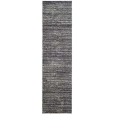 Vision Gray 2 ft. x 10 ft. Runner Rug