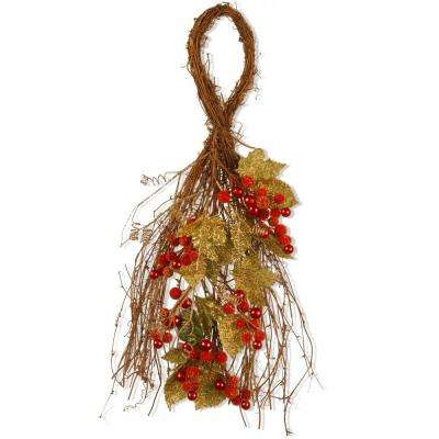 24 in. Berry/Leaf Vine Wall Decor