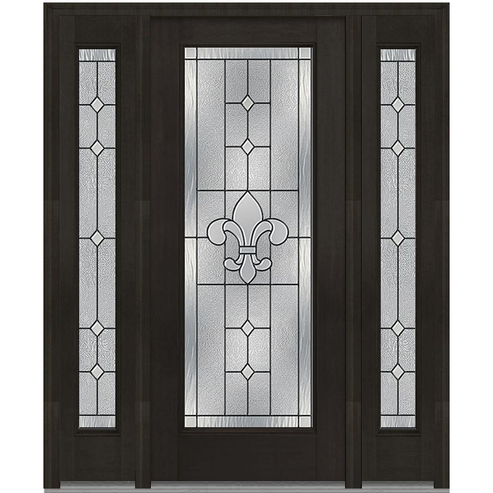 Mmi Door 68 5 In X 81 75 In Carrollton Decorative Glass