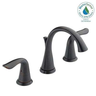 Lahara 8 in. Widespread 2-Handle Bathroom Faucet with Metal Drain Assembly in Venetian Bronze