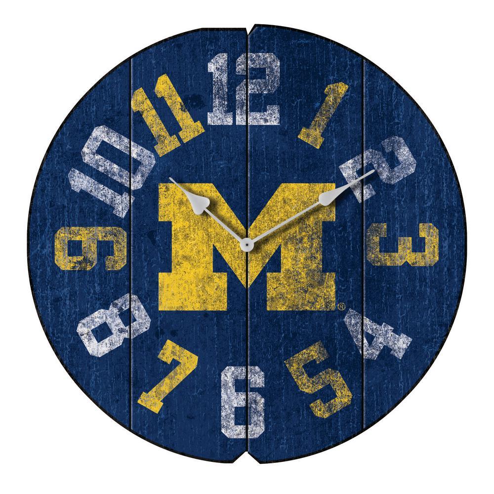 University of Michigan Vintage Round Clock