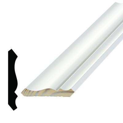 WM 49 9/16 in. x 3-5/8 in. x 96 in. Primed Pine Finger-Jointed Crown Moulding