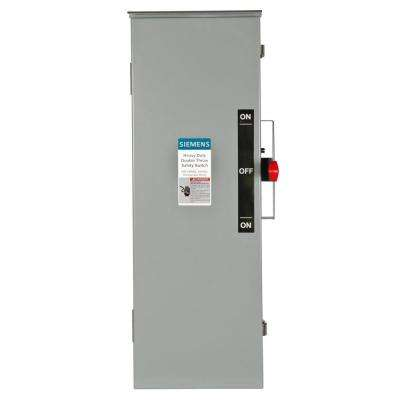 Double Throw 100 Amp 240-Volt 3-Pole Outdoor Fusible Safety Switch