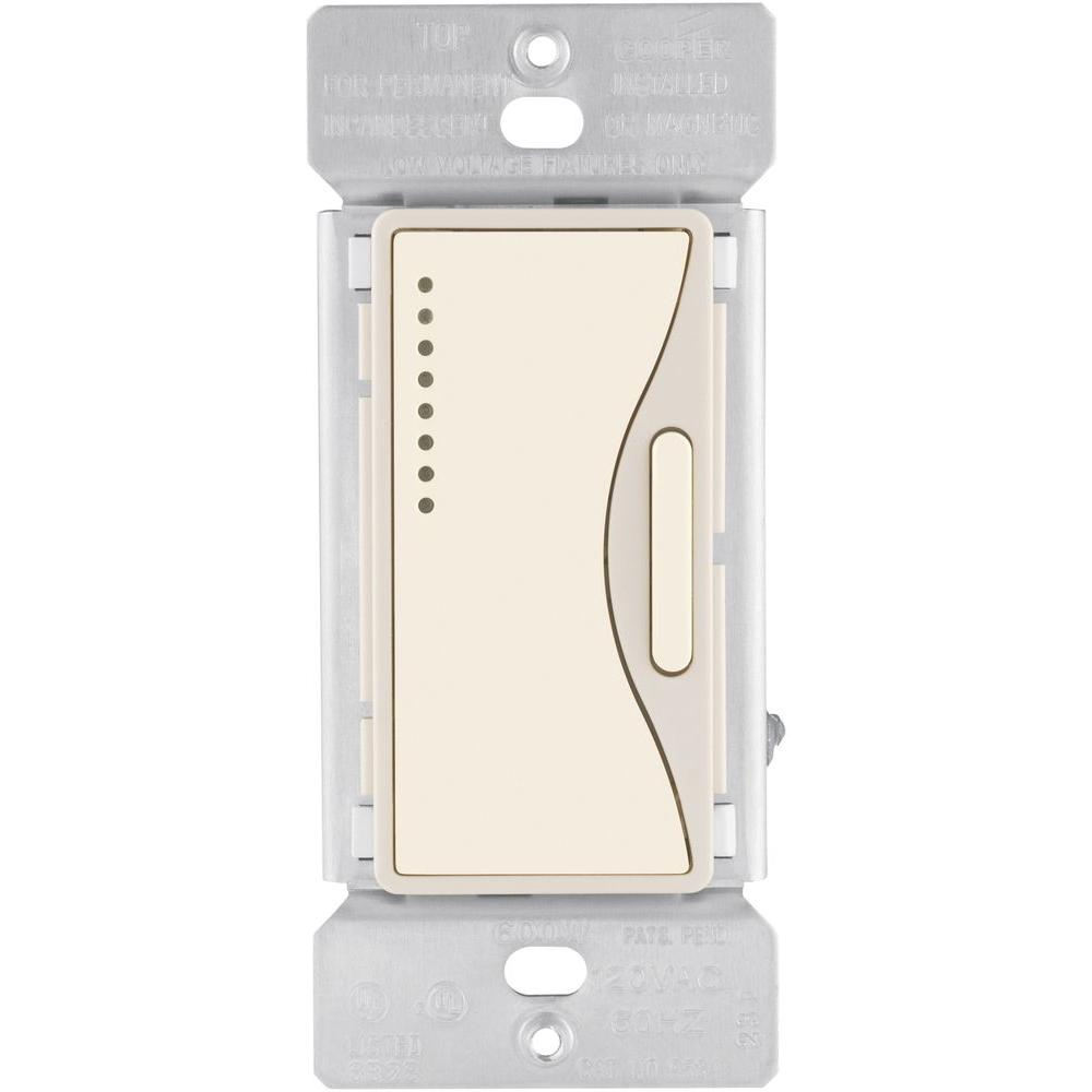 eaton aspire smart accessory dimmer with preset in desert sand rh homedepot  com
