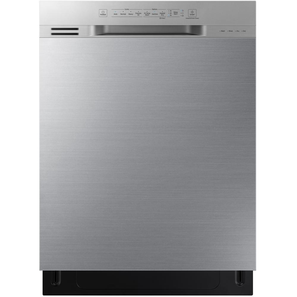 Samsung 24 in front control dishwasher in stainless steel - Dishwasher with stainless steel interior ...