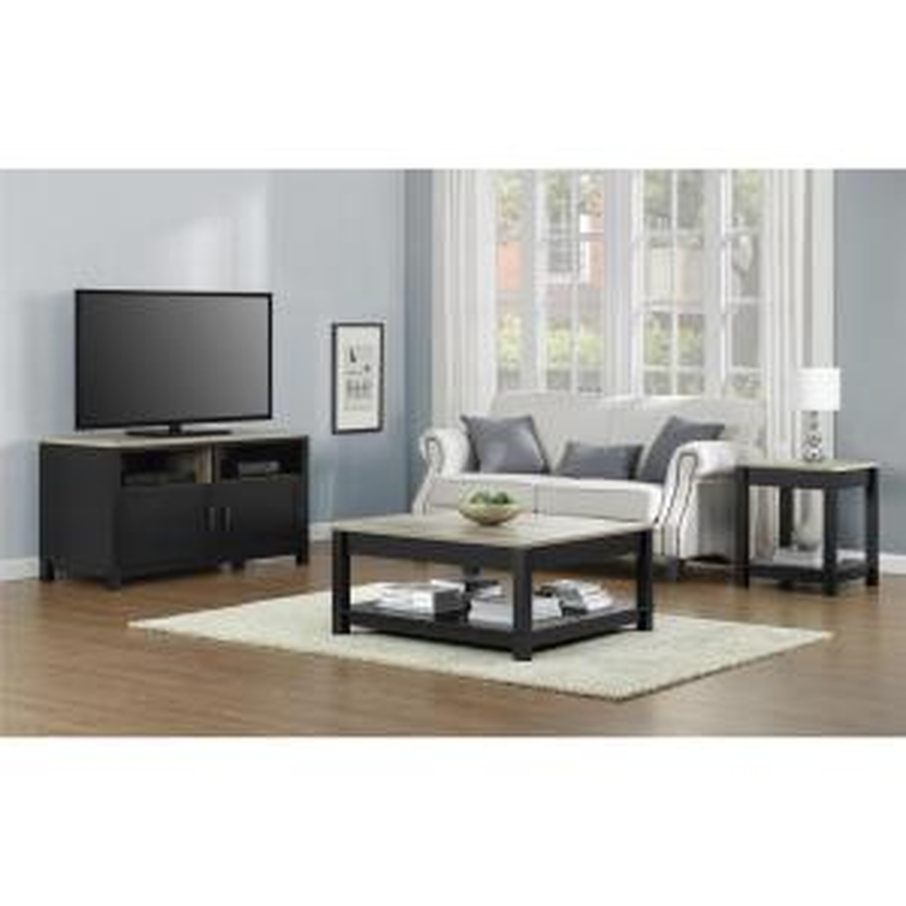 +2. Altra Furniture Carver Matte Black Storage Coffee Table
