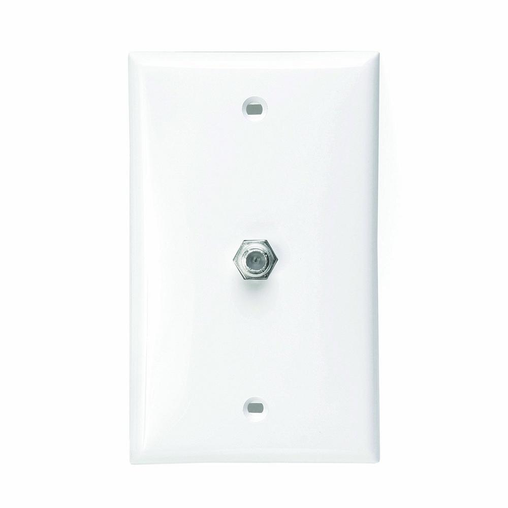 625D F-Connector Type Video Wall Jack, White