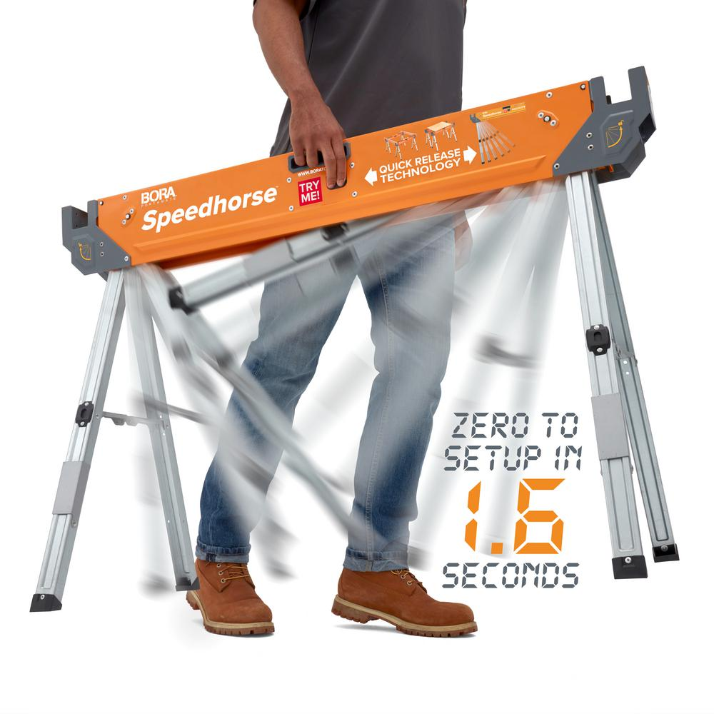 BORA Speed Horse Sawhorse with Auto Release Legs (1-Pair)