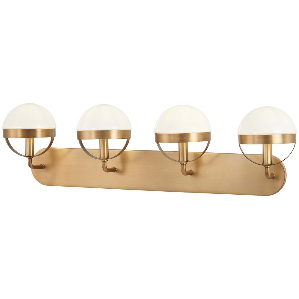 Minka Lavery Tannehill 4-Light Aged Brass Bath Light