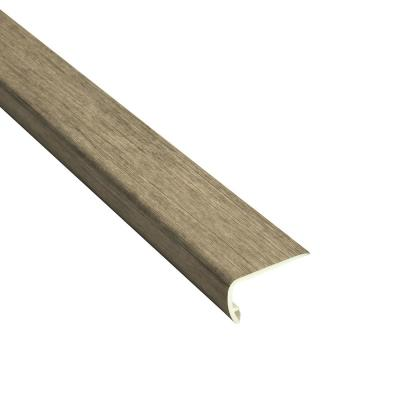 Banks 5/32 in. Thick x 2-1/3 in. Wide x 94 in. Length Vinyl Stair Nose Molding