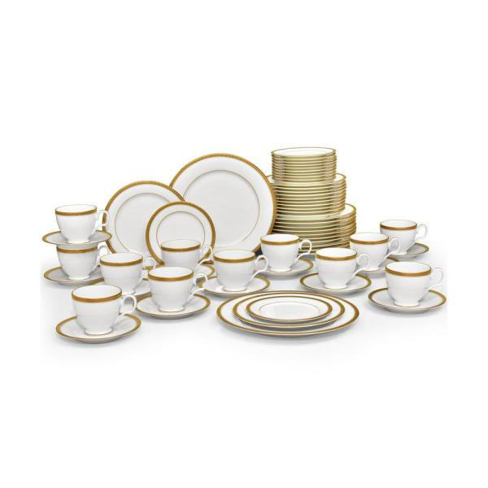 Noritake Charlotta Gold White Porcelain