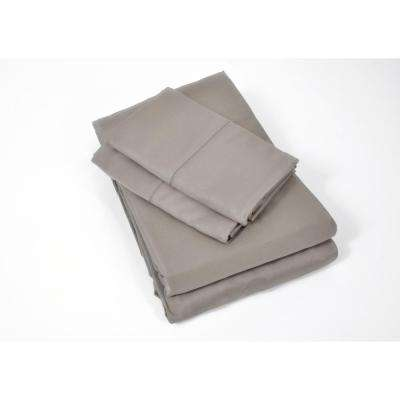 100% Rayon from Bamboo Black Pearl King Sheet Set