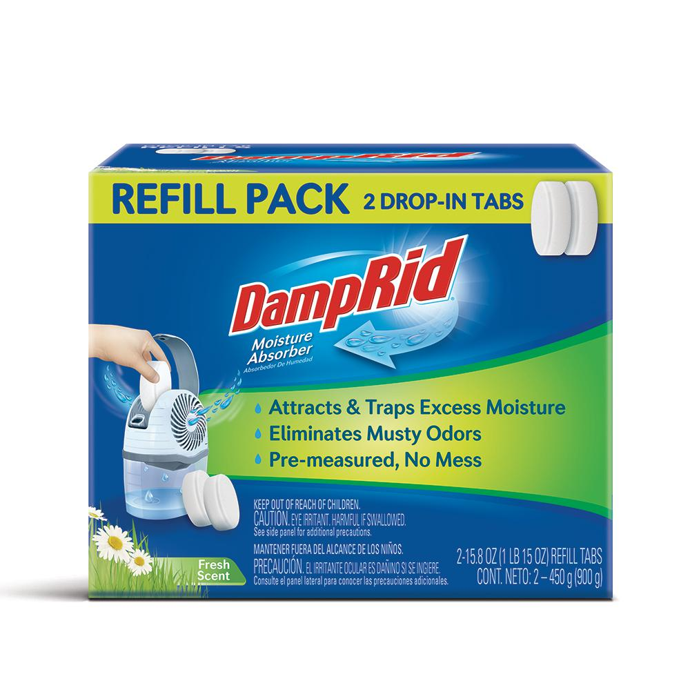 DampRid 15.8 oz. Fresh Scent Drop-In Tab Moisture Absorber Refills (2-Pack)