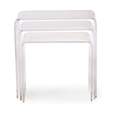 Clear 3-Piece Nesting End Table