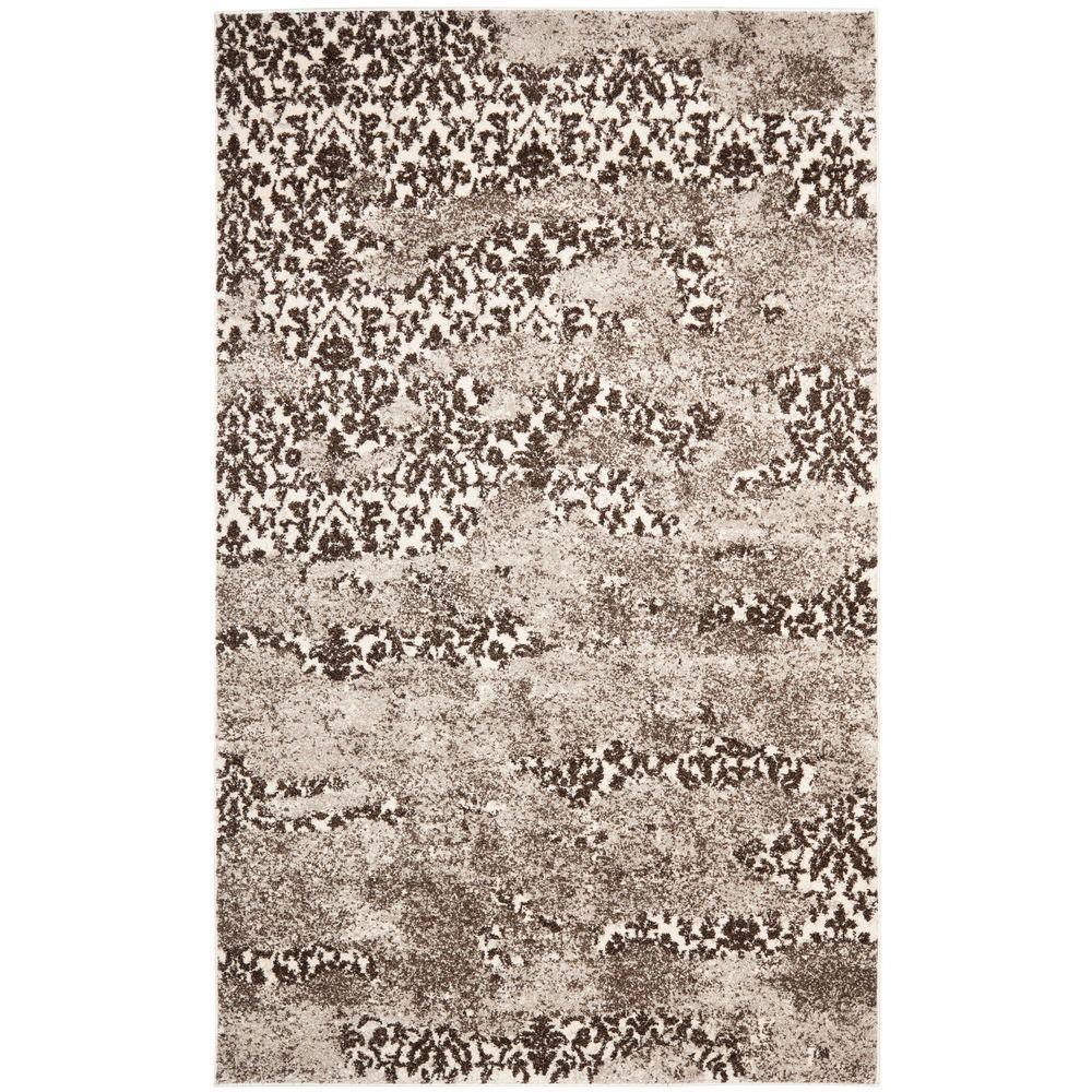 Retro Beige/Light Grey 5 ft. x 8 ft. Area Rug