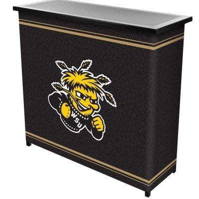 Wichita State University 2-Shelf Black Bar with Case