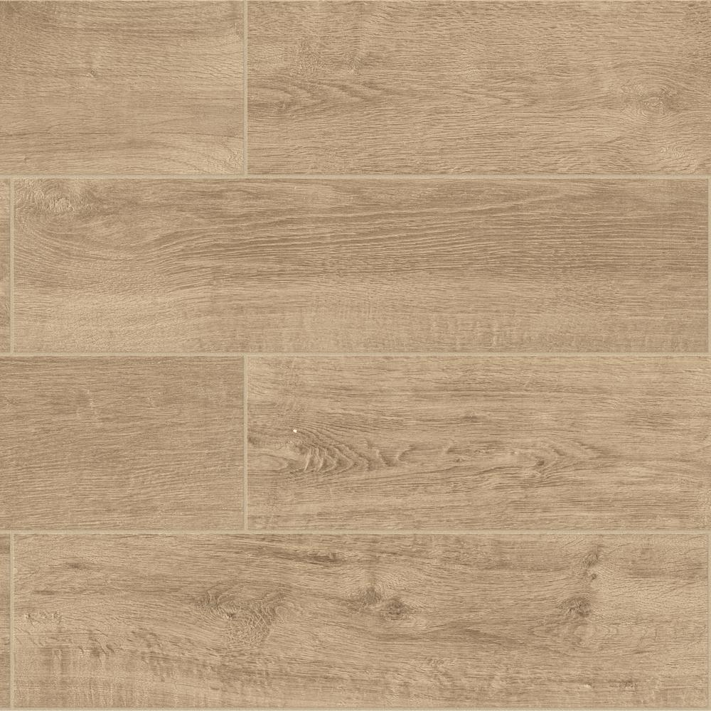 Daltile Meadow Wood Soft Brown 6 In X