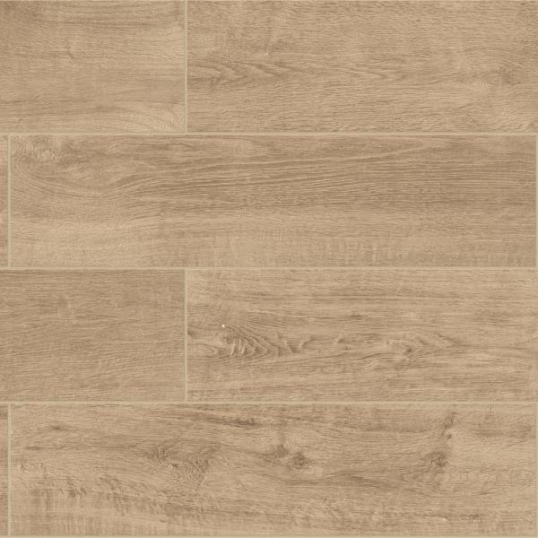 Meadow Wood Soft Brown 6 in. x 24 in. Glazed Porcelain Floor and Wall Tile (15 sq. ft. / case)