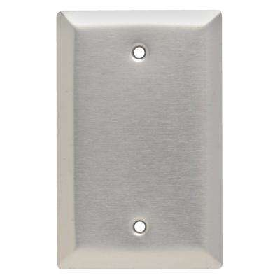 Pass & Seymour 302/304 S/S 1 Gang Box Mounted Blank Jumbo Wall Plate, Stainless Steel (1-Pack)