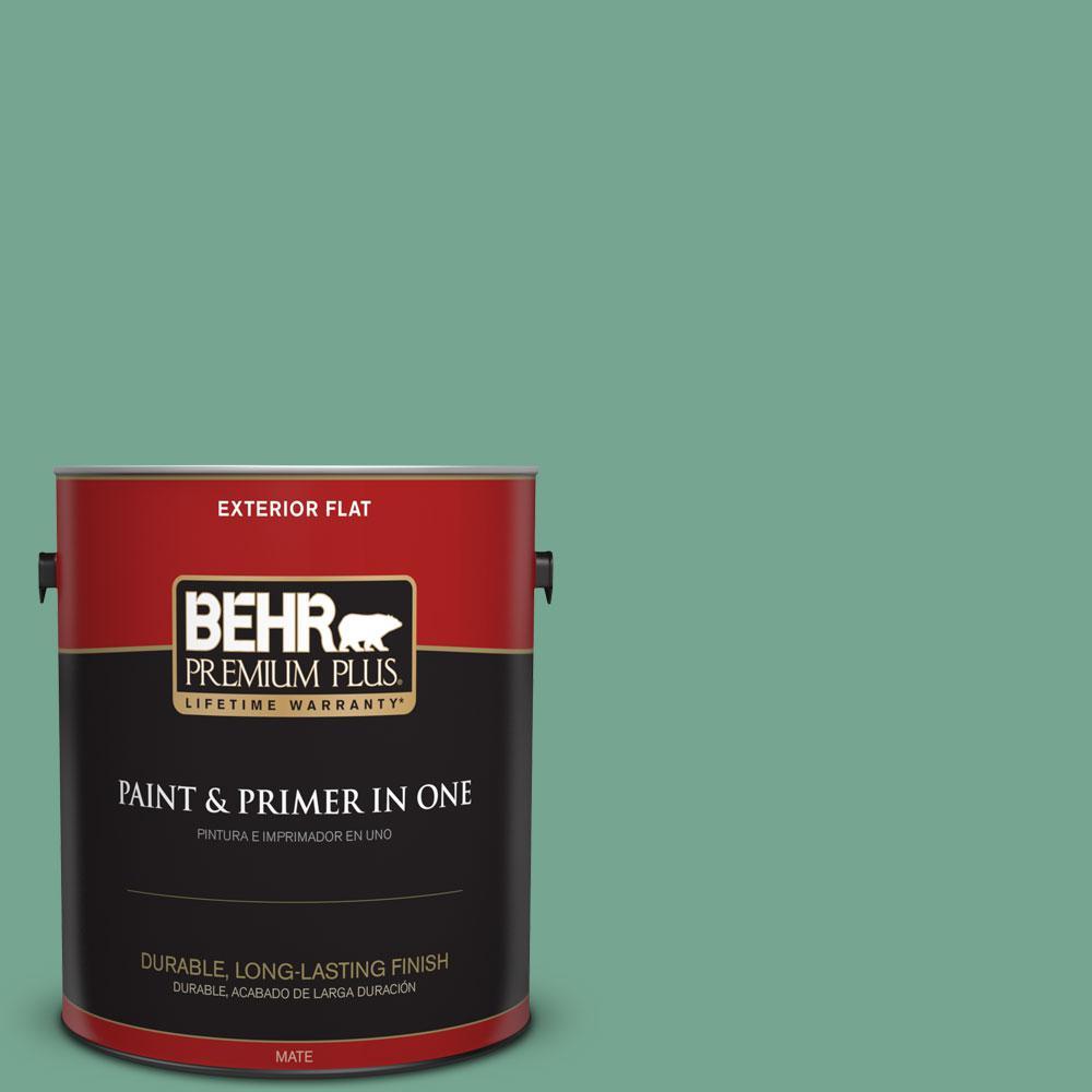 1-gal. #M420-5 Free Green Flat Exterior Paint