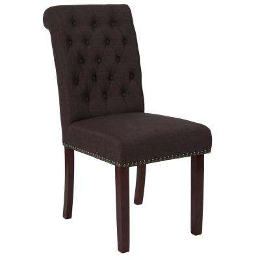 Hercules Brown Fabric Parsons Chair