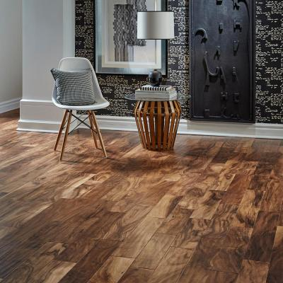 Hand Scraped Natural Acacia 3/4 in. T x 4-3/4 in. W x Random Length Solid Exotic Hardwood Flooring (18.7 sq. ft. / case)