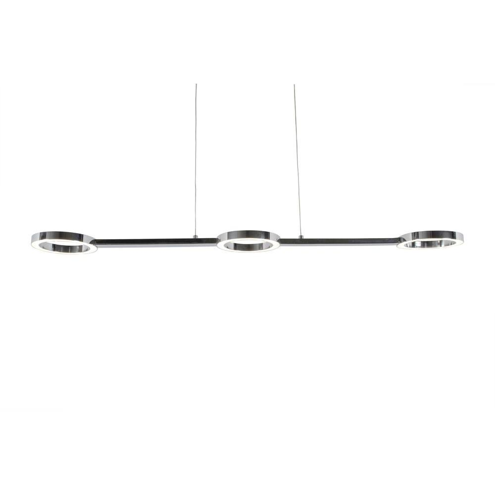 Varaluz Halo 3-Light Polished Chrome LED Linear Pendant