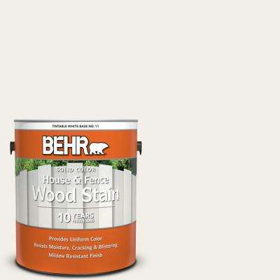 1 gal. #SC-337 Pinto White Solid Color House and Fence Exterior Wood Stain