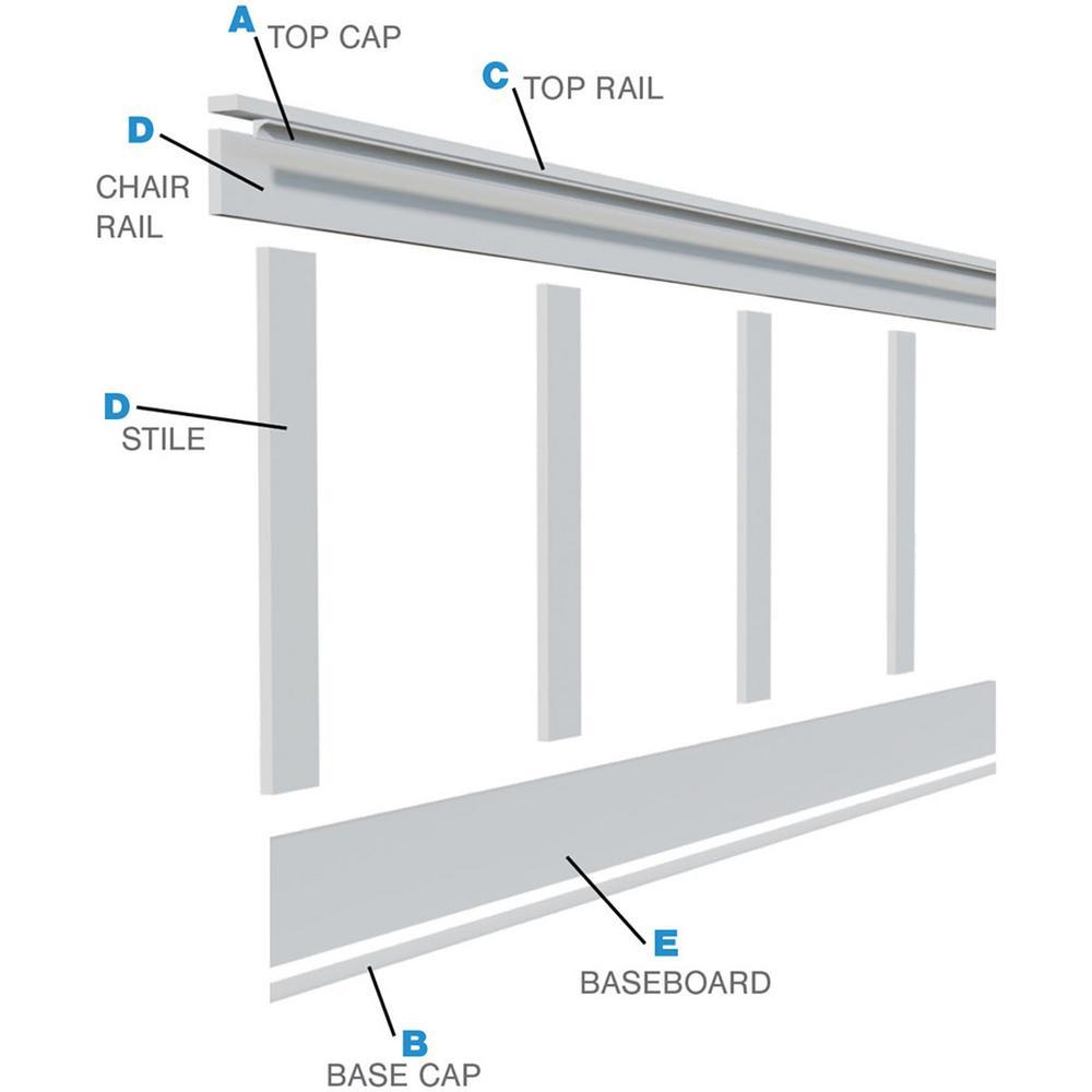 Base Mouldings Wainscoting Kit Upgrades 3-1//2 Base Moulding | 18 Lin Wall kit