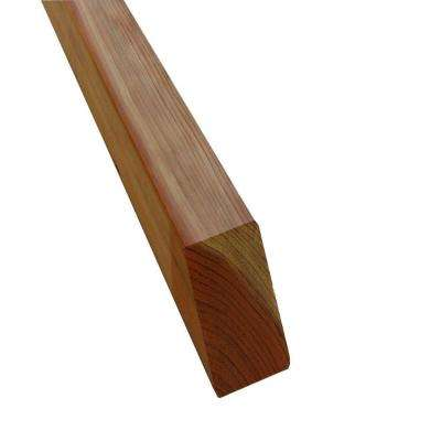 4 in. x 4 in. x 4 ft. Redwood Square Fence Post