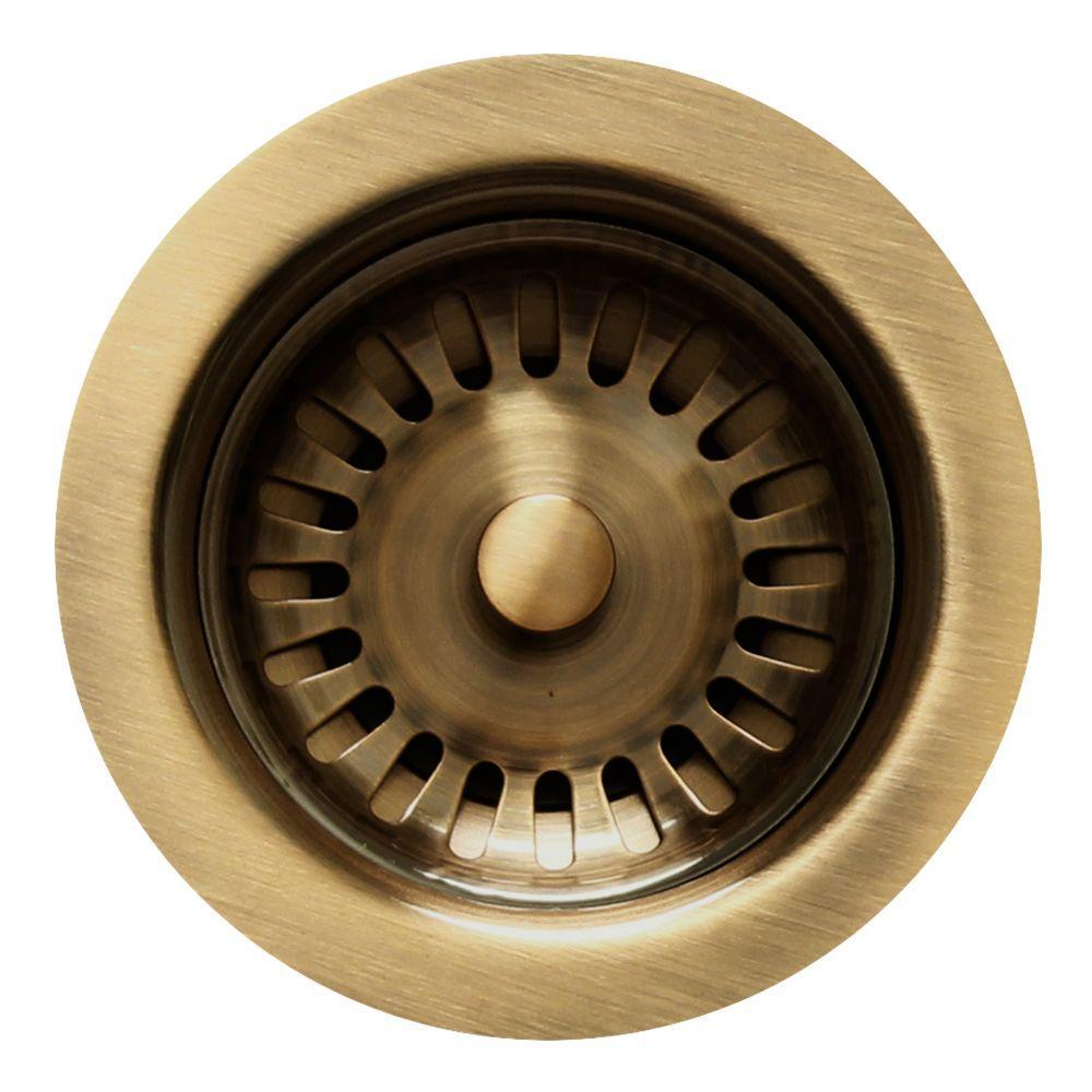 Whitehaus Collection 3 5 In Basket Strainer In Antique