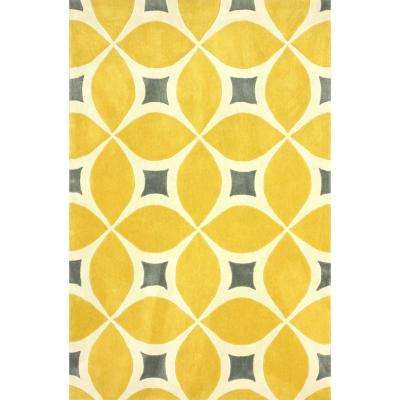 Gabriela Sunflower 6 ft. x 9 ft. Area Rug
