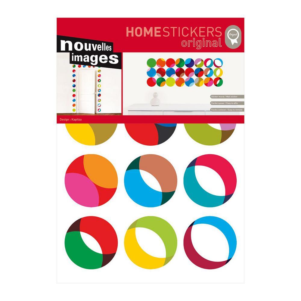 Nouvelles images multicolor geometric home sticker host 1526 the home depot - Nouvelles images stickers ...