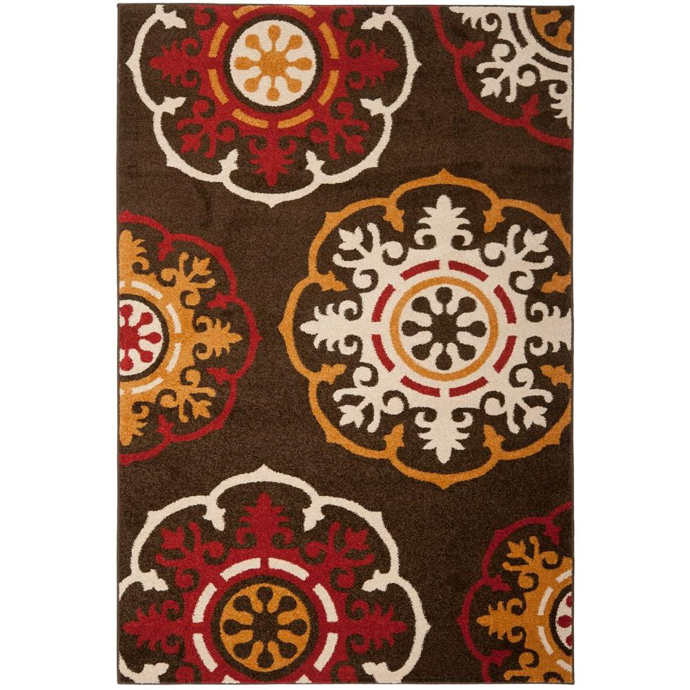 Safavieh Newbury Brown/Red 5 ft. 1 in. x 7 ft. 6 in. Area Rug