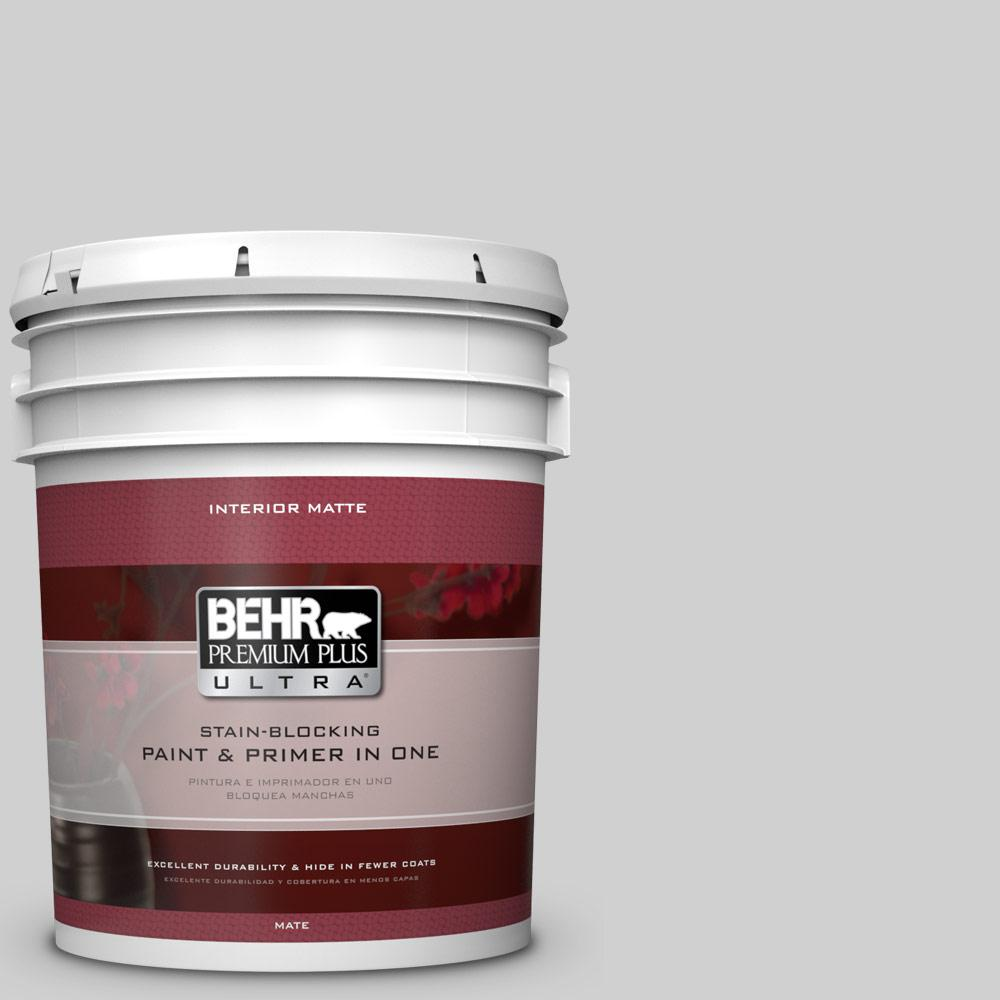 5 gal. #N520-1 White Metal Matte Interior Paint and Primer in