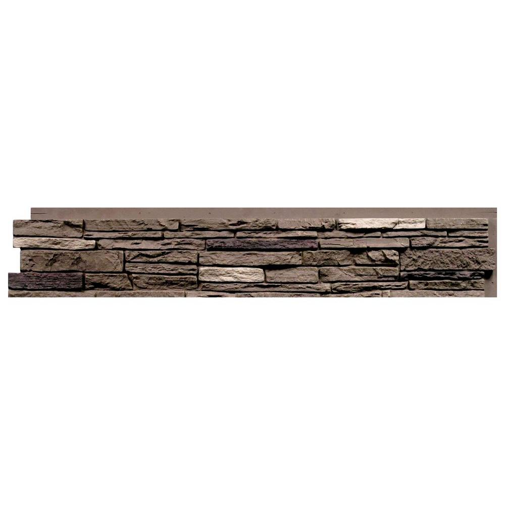 43 in. x 8.25 in. Faux Stone Siding Panel (8-Pack) Slatestone