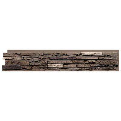Slatestone Brunswick Brown 8.25 in. x 43 in. Faux Stone Siding Panel (8-Pack)