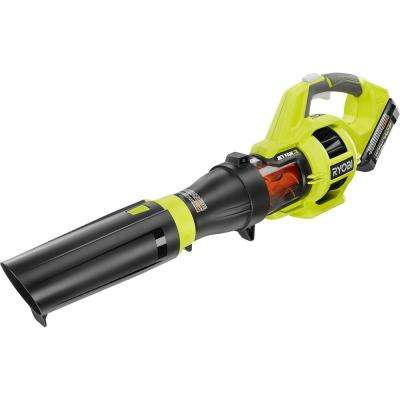 Reconditioned 110 MPH 480 CFM 40-Volt Lithium-Ion Cordless Jet Fan Leaf Blower - 3.0 Ah Battery and Charger Included