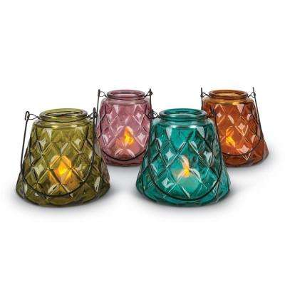 Assorted Small Votive Glass Candle Holders (Set of 4)