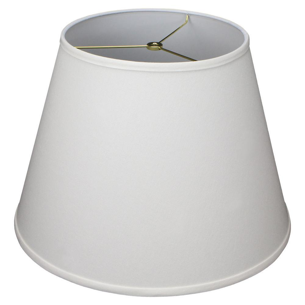 11 in. Top Diameter x 18 in. Bottom Diameter x 13 in. Slant Linen Cream Empire Lamp Shade