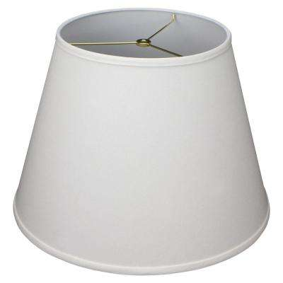 11 in. Top Diameter x 18 in. Bottom Diameter x 13 in. Slant Linen Cream Empire Lamp Shade