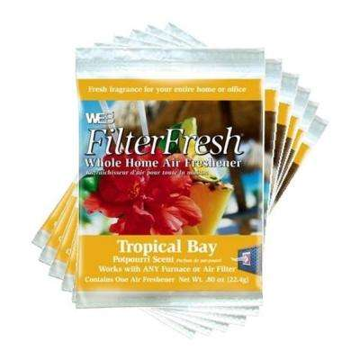 Filter Fresh Tropical Bay Air Fresheners for Air Filters (6-Pack)