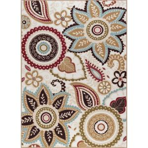 Majesty Cream 4 ft. x 5 ft. Area Rug