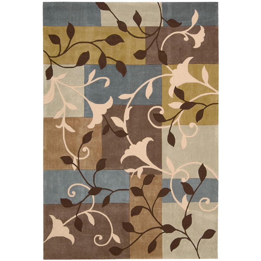 Graphic Floral Multicolor 3 ft. 6 in. x 5 ft. 6
