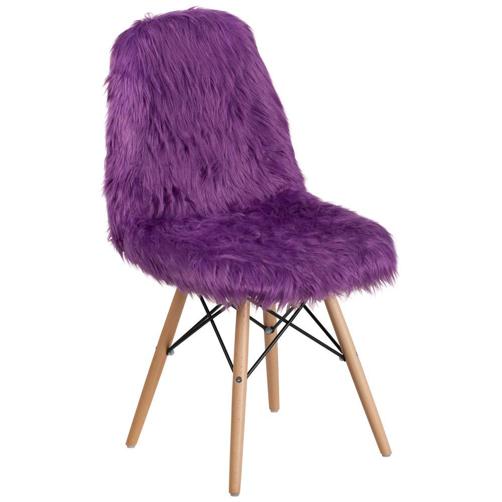 Flash Furniture Shaggy Dog Purple Accent Chair DL15
